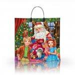 Пакет с пластиковой ручкой 36x34 Дед и Дети
