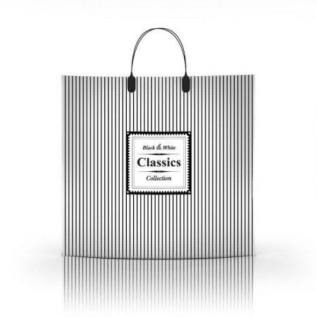Пакет с пластиковой ручкой 36x34 Классик 80мкм ламинат
