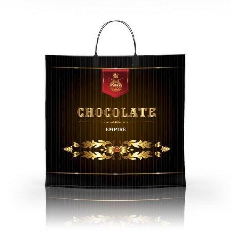 Пакет с пластиковой ручкой 36x34 Шоколад 80мкм ламинат