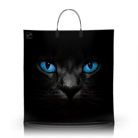 Пакет с пластиковой ручкой 40x40 Черный кот