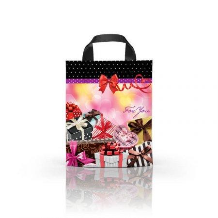 Пакет с петлевой ручкой 24x39 Подарки ламинат