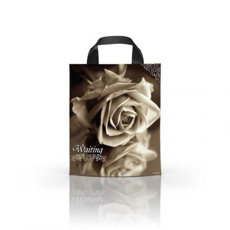 Пакет с петлевой ручкой 24x39 Роза ламинат