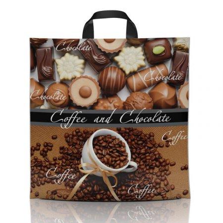 Пакет с петлевой ручкой 43x43 Кофе Шоколад