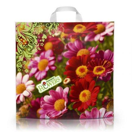 Пакет с петлевой ручкой 45x43 Цветы 100мкм